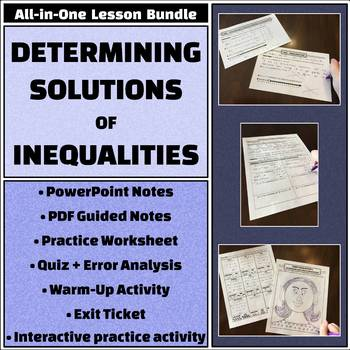 Determining Solutions of Inequalities - All-in-One Bundle - Activities and more!