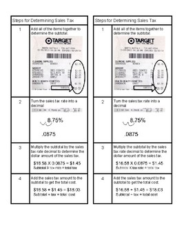 Determining Tax Graphic Organizer Steps with Visuals