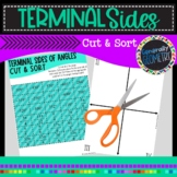 Determining Terminal Sides of Angles Cut & Sort; Pre-Cal,