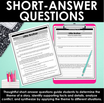 Theme   Determining Theme: Differentiated Reading Passages and Questions