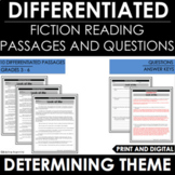 Theme Reading Comprehension Passages and Questions - Differentiated