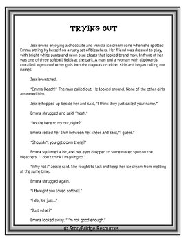 Determining Theme for Reading Comprehension-A Short Story-Encouragement