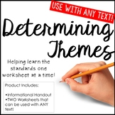 Determining Themes Literature Worksheets