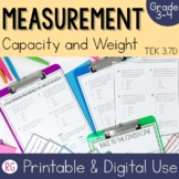 Determining Units of Measurement for Weight and Capacity Activities