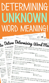 Determining Unknown Word Meaning Practice Pack