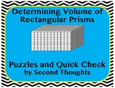 Determining Volume Puzzles and Quick Check