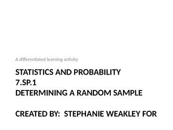 Determining a random sample