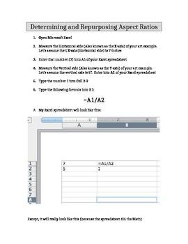 Determining and Repurposing Aspect Ratios (Requires Excel)