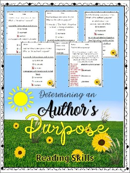 Determining the Author's Writting Purpose (Middle School)