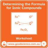 Determining the Chemical Formula for Ionic Compounds [Worksheet]