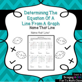 Determining the Equation of a Line From a Graph: Name That Line