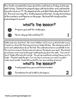 Determining the Lesson or Moral RL 3.2