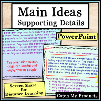 Determining the Main Idea in Written Passages