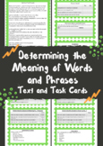 Determining the Meaning of Words Text and Task Cards
