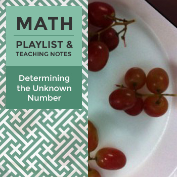 Determining the Unknown Number - Playlist and Teaching Notes