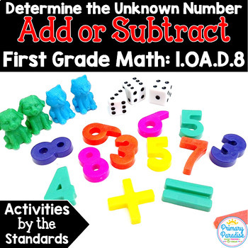 Determining the Unknown Whole Number: Add & Subtract 1.OA.