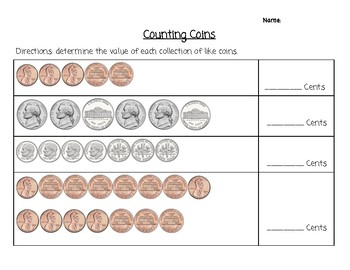 Determining the Value of a Collection of Coins