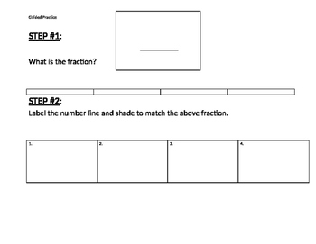 Determining the value of a fraction by using a number line