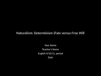 Determinism vs. Free Will Presentation Template