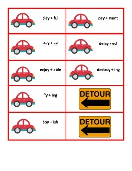 "Detour! Activities for Adding Suffixes and Plurals to Words Ending in ""y"""