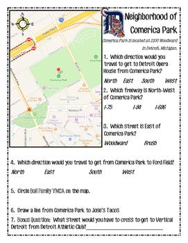 Detroit Tigers Comerica Park Map