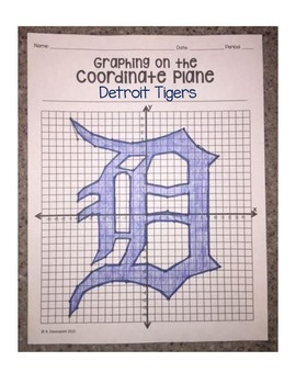 Detroit Tigers (Coordinate Graphing Activity)