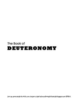 Deuteronomy WORD Guide