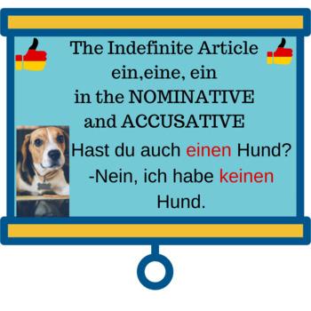 Deutsch Aktuell 1-Kapitel 5-Indefinite Art. ein, eine, ein in Nomin.& Accusative