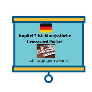 Deutsch Aktuell 1 / Kapitel 7 Crossword Bundle - Kleidungsstücke