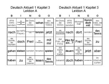 Deutsch Aktuell Level 1: Kapitel 3A Was machst du?       German BINGO!