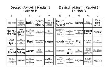 Deutsch Aktuell Level 1: Kapitel 3B Was machst du?       German BINGO!