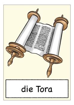 Deutsch / German Bildkarten JUDENTUM (Judaism) - flash cards Wortschatz
