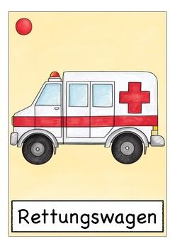 Deutsch / German Bildkarten KRANKHEIT und GESUNDHEIT  - flash cards health