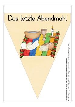 Deutsch / German DIE KARWOCHE Wimpel OSTERN  / banners Easter story