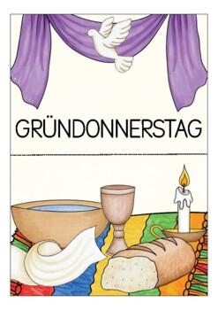 Deutsch / German DIE KARWOCHE Tafelbilder / Poster OSTERN Easter