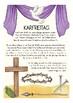 Deutsch / German DIE KARWOCHE Poster zu Ostern / spring Easter