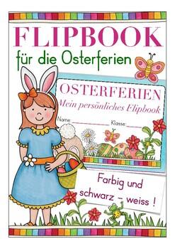 Deutsch / German: Flipbook OSTERN / OSTERFERIEN - Easter holiday Ferien