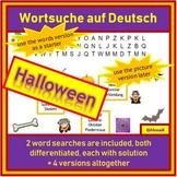 Deutsch, German - Halloween: 2 differentiated word searches using 20 words