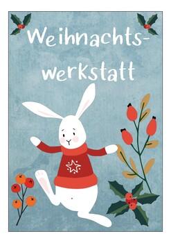 deutsch / german - weihnachten stationenschilder / winter karten / poster