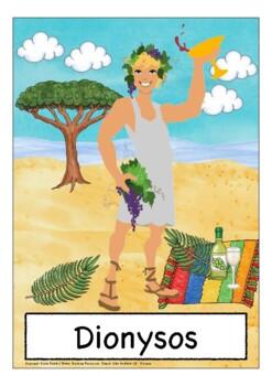 Deutsch: Griechische Götter Bildkarten DAF, German flash cards, Wortschatz,