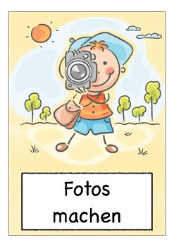 Deutsch: HOBBIES & Freizeit  - Bildkarten / Flash Cards / DAZ / DAF / German