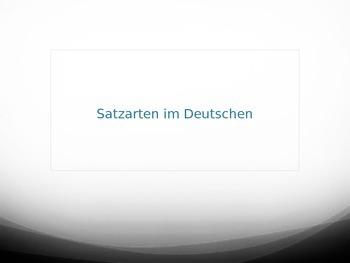 Deutsch Satzarten / Sentence types German sentence structure / Satzbau
