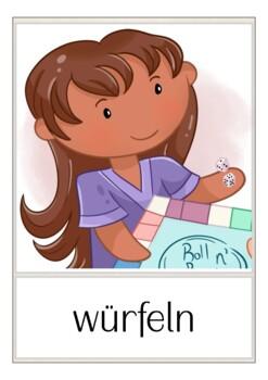 Deutsch: Spiele Bildkarten DAF, German flash cards, Wortschatz, Vocabulary