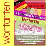 Deutsche Wortarten: Adjektive- 18 Arbeitsblätter