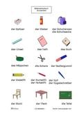 Deutsches Bilderwörterbuch Schulartikel _Picture dictionnary german