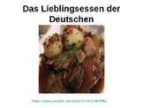 Deutsches Essen / Essen und Trinken / German food / Food and drink