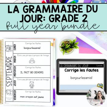 Deuxième année: la correction du jour (French writing mini-activities)