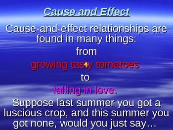 Develop A Cause & Effect Essay