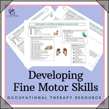 Develop Fine Motor Skills: Occupational Therapy