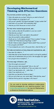 Develop Mathematical Thinking With Effective Questions